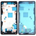 iPartsBuy for Sony Xperia Z3 Compact / D5803 / D5833 Front Housing LCD Frame Bezel Plate(Black)
