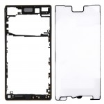 iPartsBuy for Sony Xperia Z5 (Single SIM Card Version) Front Bezel Replacement(Black)