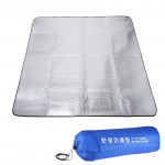 7mm Thickening of Double Aluminum Moisture Pad / Camping Sleeping Pad, Size: 200cm x 200cm(Blue)