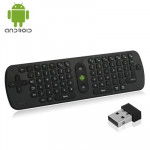 Pour PC / Smart TV / Ordinateur portable / Android TV Box 2.4GHz Wireless Air Mouse + Clavier avec USB Mini Récepteur - Wewoo