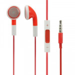 Double Color 3.5mm Stereo Earphone with Volume Control and Mic for iPhone 6 / 6 Plus, 5 / 5S / 5C, 4 / 4S, 3G / 3GS(Red)