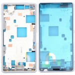 iPartsBuy for Sony Xperia Z3 Compact / D5803 / D5833 Front Housing LCD Frame Bezel Plate(White)