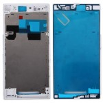 iPartsBuy for Sony Xperia Z Ultra / XL39h / C6802 Front Housing LCD Frame Bezel Plate(White)