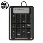 USB Non-synchronous Notebook Computer Numeric Keyboard with 19 Keys