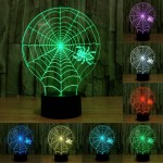 Cobweb Style USB Charging 7 Colour Discoloration Creative Visual Stereo Lamp 3D Touch Switch Control LED Light Desk Lamp Night L