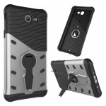 For Samsung Galaxy J7 (2017) / J727 Shock-Resistant 360 Degree Spin Sniper Hybrid Case TPU + PC Combination Case with Holder (Si