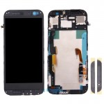 iPartsBuy for HTC One M8 LCD Screen + Touch Screen Digitizer Assembly with Frame & Front Glass Lens Cover (Top+Bottom)(Black)