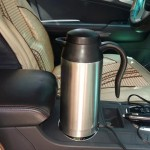 HJ-18A Stainless Steel Electric Mug 750ml DC 12V Car Electric Kettle Heated Mug Car Coffee Cup With Charger Cigarette Lighter He