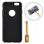 Kumishi for iPhone 6 Dual SIM Card Adapter with A Back Case Cover(Black)
