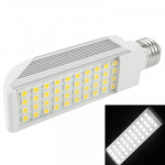 E27 10W White 40 LED 5050 SMD LED Transverse Light Bulb, AC 85V-265V