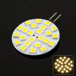 Car G4 Warm White 18 LED 5050 SMD Marine Cabinet Light Bulb, DC 12V