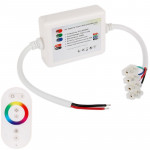 Dome Style Rainbow Touch Panel Wireless Remote Controller Dimmer for RGB LED Strip Light(White)
