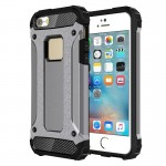 Tough Armor TPU + PC Combination Case for iPhone SE & 5 & 5s(Grey)