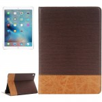 Cross Texture Horizontal Flip Leather Case with Holder & Card Slots & Wallet for iPad Pro 9.7 inch(Coffee)