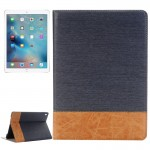Cross Texture Horizontal Flip Leather Case with Holder & Card Slots & Wallet for iPad Pro 9.7 inch(Dark Blue)