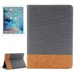 Cross Texture Horizontal Flip Leather Case with Holder & Card Slots & Wallet for iPad Pro 9.7 inch(Grey)