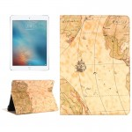 Map Pattern Horizontal Flip Leather Case with Holder & Card Slots & Wallet for iPad Pro 9.7 inch, Random Pattern Delivery
