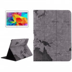 World Map Pattern Flip Leather Case with Holder for Samsung Galaxy Tab 4 10.1 / SM-T530, Random Delivery (Grey)
