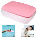 2 in 1 Multifunction Air Inflatable Cushion Pillow / Small Desk for Office / Home / Camping (Pink)