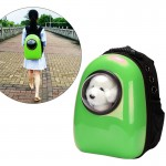 Space Capsule Carrier Breathable Pet Backpack Travel Portable Pet Bag for Cat / Dog and other Pets, Size:32*29*42cm(Green)