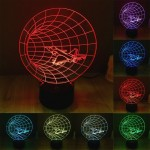 Lampe 3D Time Machine Style 7 Couleur Décoloration Creative Visual Stéréo 3D Touch Switch Control LED Lumière Bureau Night Li...