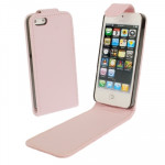 Housse Étui rose pour iPhone 5 & 5s & SE & SE Soft Texture Up and Down en cuir ouverte - Wewoo