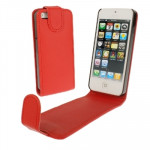 Housse Étui rouge pour iPhone 5 & 5s & SE & SE Soft Texture Up and Down en cuir ouvert - Wewoo