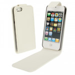 Soft Texture Up and Down Open Leather Case for iPhone 5 & 5s & SE & SE (White)