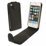 Soft Texture Up and Down Open Leather Case for iPhone 5 & 5s & SE & SE (Black)