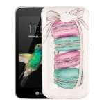 For LG K4 Macarons Pattern IMD Workmanship Soft TPU Protective Case