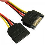 SATA 15-Pin Male to 15-Pin Female Power Extension Cable, Length: 15cm