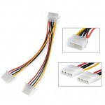 4-Pin Molex Y Power Supply Cable splitter, Length: 20cm