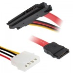 15+7 Pin SATA Data Power Cable for HDD Serial ATA, Length: 30cm