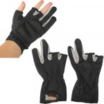Fishing Special Three Fingers Exposed Gloves(Black)