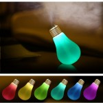400ML Colorful Light Portable Bulb Shape Aromatherapy Air Purifier Humidifier for Home / Office / Car(White)