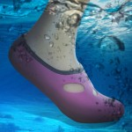 Comfortable and anti-slip 3MM swimming diving socks breathable water to swim the beach socks Size:L (38-39)(Magenta)