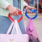 Shopping Grocery Bag Portable Grip Convenient Handle Hook for Shopping (Red)