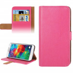 Crazy Horse Texture Leather Case with Credit Card Slot & Holder for Samsung Galaxy S5 / G900 (Magenta)