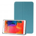 Frosted Texture Flip Leather Case with Holder for Samsung Galaxy Tab Pro 8.4 / T320 (Blue)