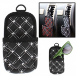 PU Leather Multifunctional Car Storage Pouch / Cell Phone Pocket(Black)