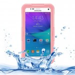 IPX8 TPU + PC Waterproof Protective Case with Lanyard for Samsung Galaxy Note 5 / N920(Pink)