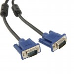 High Quality VGA 15Pin Male to VGA 15Pin Male Cable for LCD Monitor / Projector, Length: 5m(Black)
