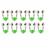 10 PCS Fishing Accessory Twin Bells Clip On Fishing Rod Fishing Bait Alarm, Random Color Delivery