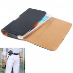 Wallet Style Leather Case with Belt Clip for Samsung Galaxy S5 / G900 (Black)