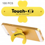 Support Holder jaune pour iPhone, Galaxy, Huawei, Xiaomi, LG, HTC et autres smartphone 100 PCS Touch-u One Touch universel de...