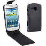 Vertical Flip Leather Case for Samsung Galaxy Trend Duos / S7562(Black)