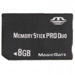 8GB Memory Stick Pro Duo Card (100% Real Capacity)(Black)