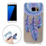 For Samsung Galaxy S7 Edge / G935 Windmill Pattern Transparent Soft TPU Protective Back Cover Case