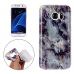For Samsung Galaxy S7 / G930 Brown Marbling Pattern Soft TPU Protective Back Cover Case