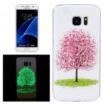 For Samsung Galaxy S7 Edge / G935 Noctilucent Cherry Tree Pattern IMD Workmanship Soft TPU Protective Case